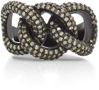 Lynn Ban Jewelry Chain Link Pavé Diamond Ring