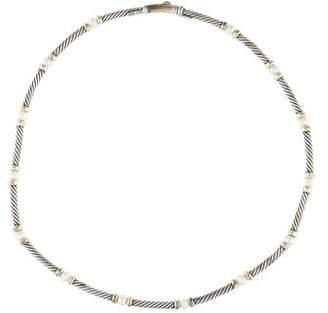 David Yurman Pearl Metro Collar Necklace