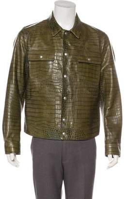Tom Ford 2019 Calfskin Embossed Jacket w/ Tags