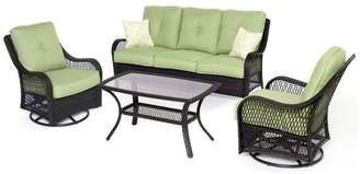 Hanover ORLEANS4PCSW Orleans Patio Seating Set - 4 Pieces (2 Swivel Gliders&