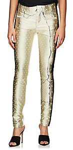 Haider Ackermann Women's Leather & Jacquard Trousers - Yellow
