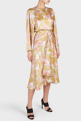 Rodebjer Cati Light Ochre Seaflower Midi Skirt