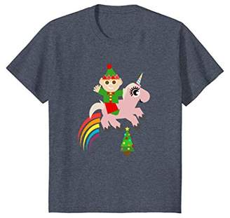 Christmas Elf Unicorn Shirt
