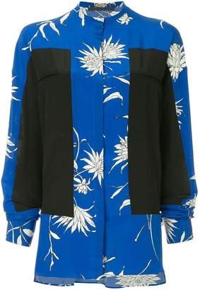 Haider Ackermann oversized colour-block blouse