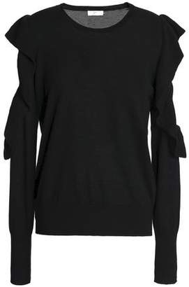 c07b8ff882128d Joie Cutout Ruffle-trimmed Wool And Silk-blend Sweater