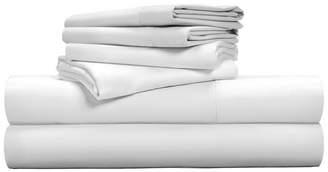 Pillow Guy Luxe Soft & Smooth Tencel 6-Piece Sheet Set - White / King Size Bedding