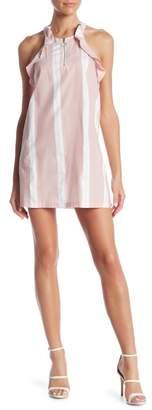 Romeo & Juliet Couture Front Zip Stripe Dress