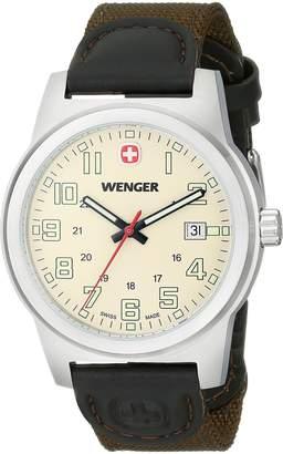 Wenger Men's 72803 Analog Display Swiss Quartz Green Watch