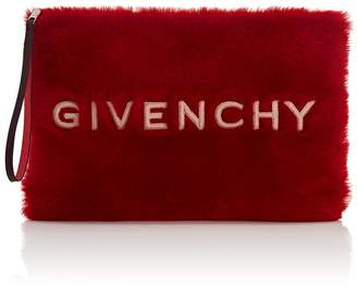 Givenchy Women's GV3 Large Faux-Shearling Pouch