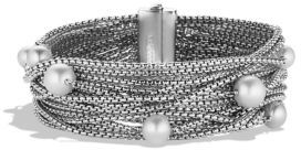 David Yurman Sixteen-Row Chain Bracelet with Pearls $950 thestylecure.com