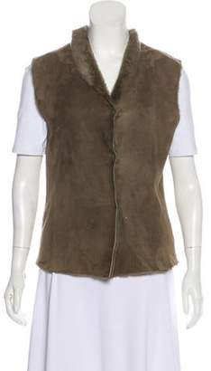 Joseph Collared Shearling Vest