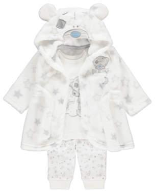 George Tatty Teddy Dressing Gown and Pyjamas 3-piece Set