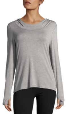 Cut-Out Back Hooded Pullover $116 thestylecure.com