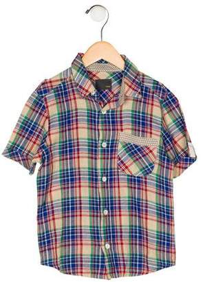 Fendi Boys' Plaid Button-Up Shirt