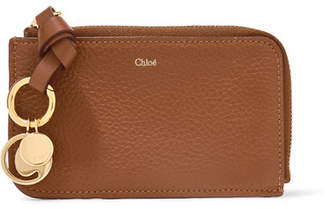 Chloé Alphabet Textured-leather Wallet - Tan