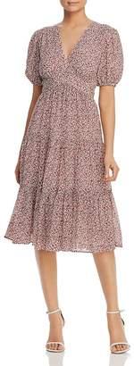 Tory Burch Short-Sleeve Floral-Print Dress