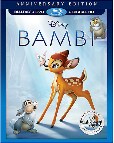 Bambi Anniversary Edition Blu-ray Combo Pack with FREE Lithograph Set Offer - Pre-Order