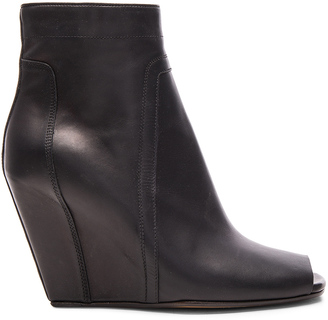 Rick Owens Open Toe Leather Booties $1,611 thestylecure.com