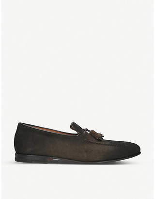 Santoni Carlos leather tassel loafers