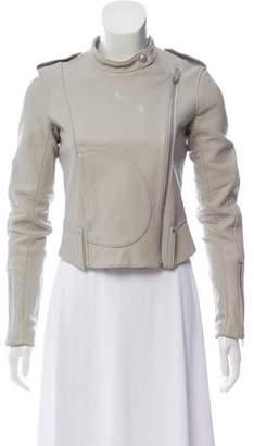 Theory Lamb Leather Asymmetrical Jacket