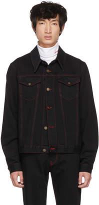 Calvin Klein Black Denim Archive Trucker Jacket