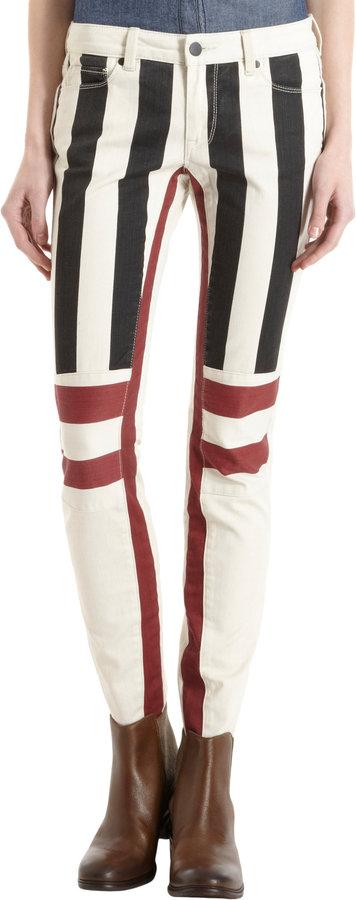 Genetic Denim Flag Print Skinny Jeans