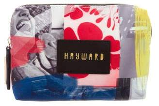 Hayward Leather-Trimmed Printed Pouch
