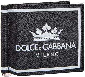 Dolce & Gabbana Money Clip Bifold Wallet