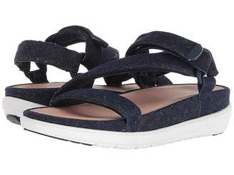 FitFlop Loosh Luxetm Z-Strap Denim Sandals