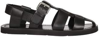 Prada Buckled Ankle Gladiator Sandals
