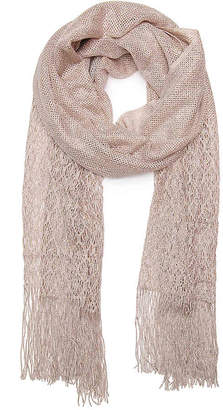 Betsey Johnson Metallic Crochet Wrap Scarf - Women's