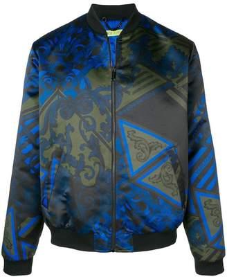 Versace duchesse print patchwork jacket