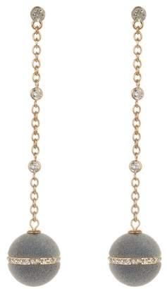 Ettika Velvet Ball Chain Drop Earrings