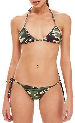Topshop Camo Triangle Bikini Top