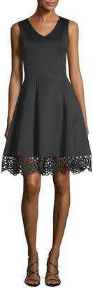 Donna Ricco Women's Scuba Fit-And-Flare Dress