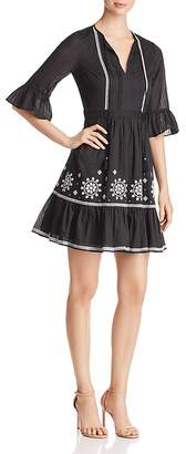 Kate Spade Mosaic Embroidered Peasant Dress