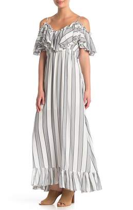 Tart Ryan Cold Shoulder Ruffle Maxi Dress