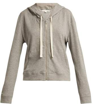 Skin - Emma Waffle Knit Cotton Blend Hooded Sweatshirt - Womens - Light Grey
