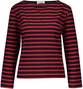 Celine Long-sleeved striped jersey top