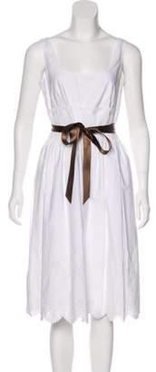 Burberry Embroidered Midi Dress