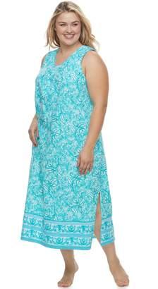 Croft & Barrow Plus Size Printed Maxi Nightgown