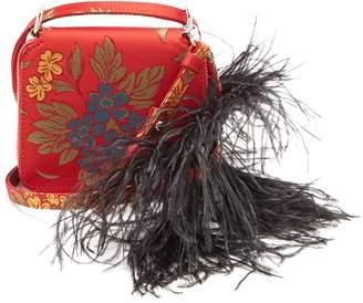 Marques Almeida MARQUES'ALMEIDA Feather strap floral-jacquard cross-body bag