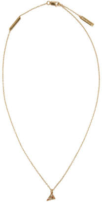Marc Jacobs Gold Pizza Necklace