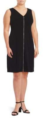 Calvin Klein Plus Zip Front Sheath Dress