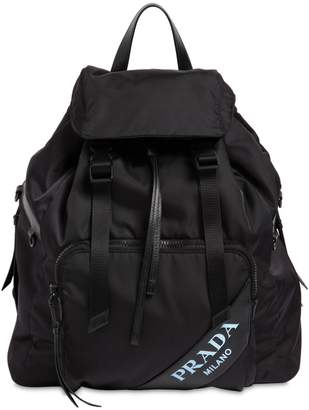 Prada New Logo Nylon Canvas Backpack