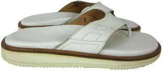 Hermes Leather flip flops
