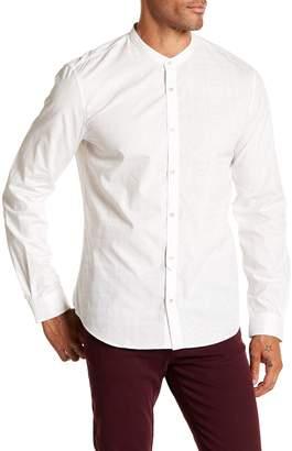 John Varvatos Tonal Windowpane Trim Fit Shirt