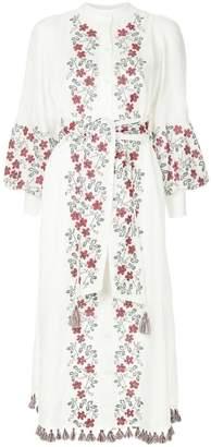 Zimmermann floral embroidery shirt dress