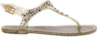 Saint Laurent Gold Rubber Sandals
