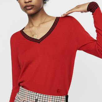 Maje Fine knit merino wool sweater